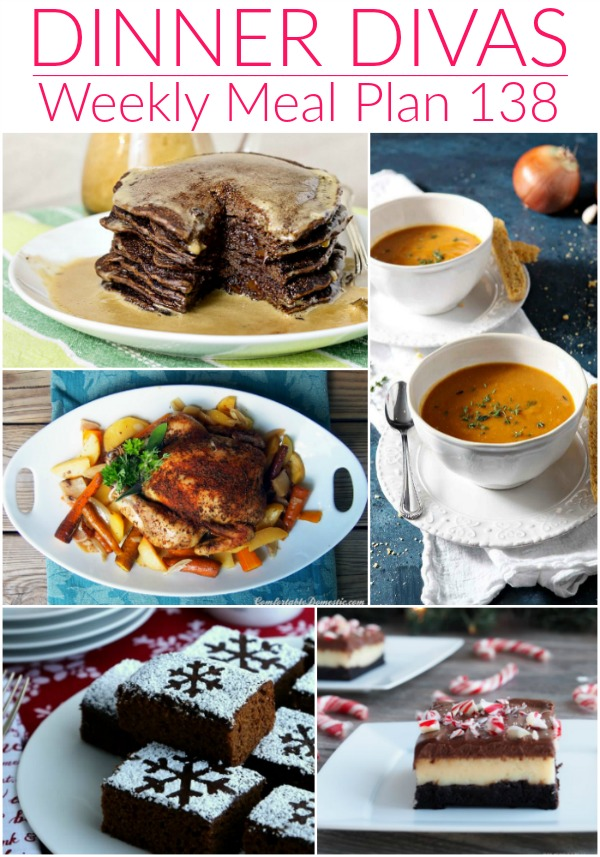 dinner divas weekly meal plan 138 collage of images