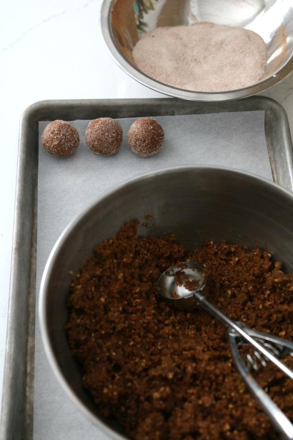 scoop rum balls