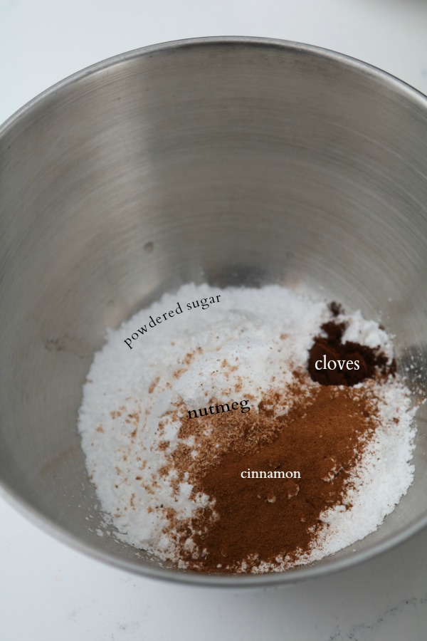 powdered sugar and spices