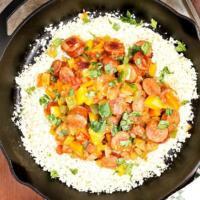 Low Carb Cajun Style Sausage with Cauliflower Rice Recipe