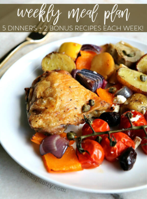 pin image for weekly meal plan