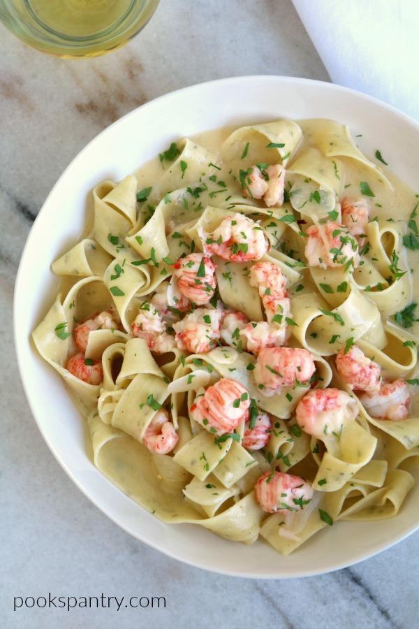 langostino pasta for dinner divas meal plan