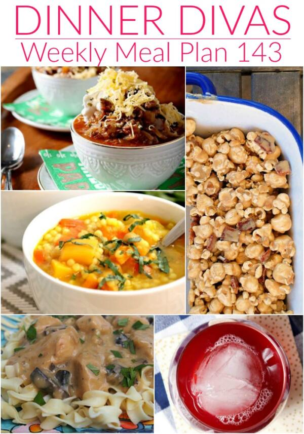 weekly meal plan 143 collage of images