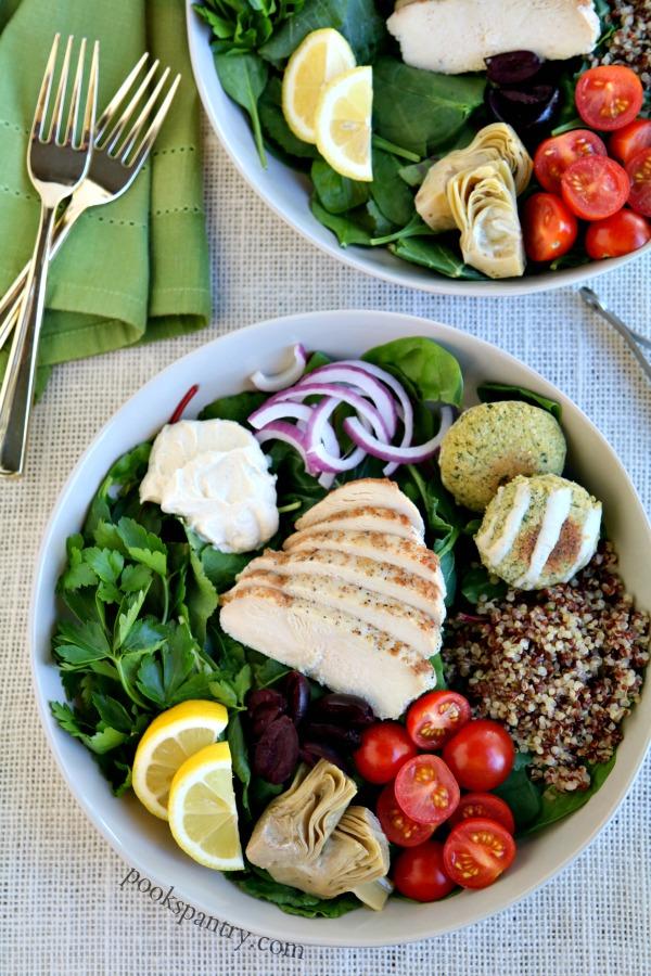 mediterranean bowl with chicken recipe