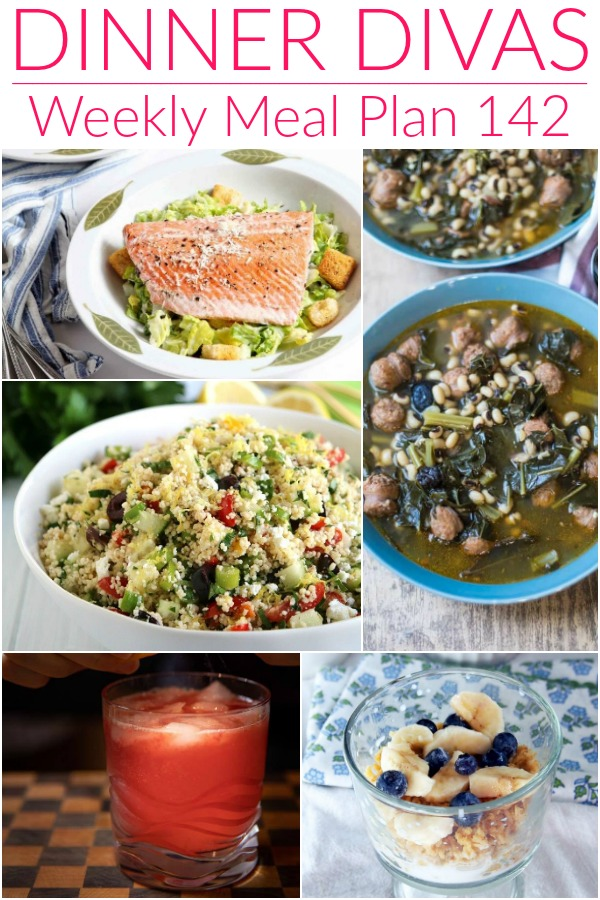 dinner divas meal plan images for week 142