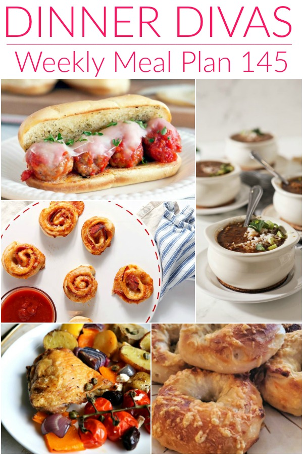 collage of images for weekly meal plan 145