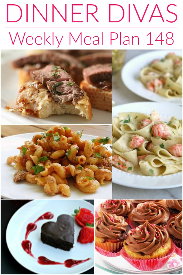 collage of images for divas weekly meal plan 148