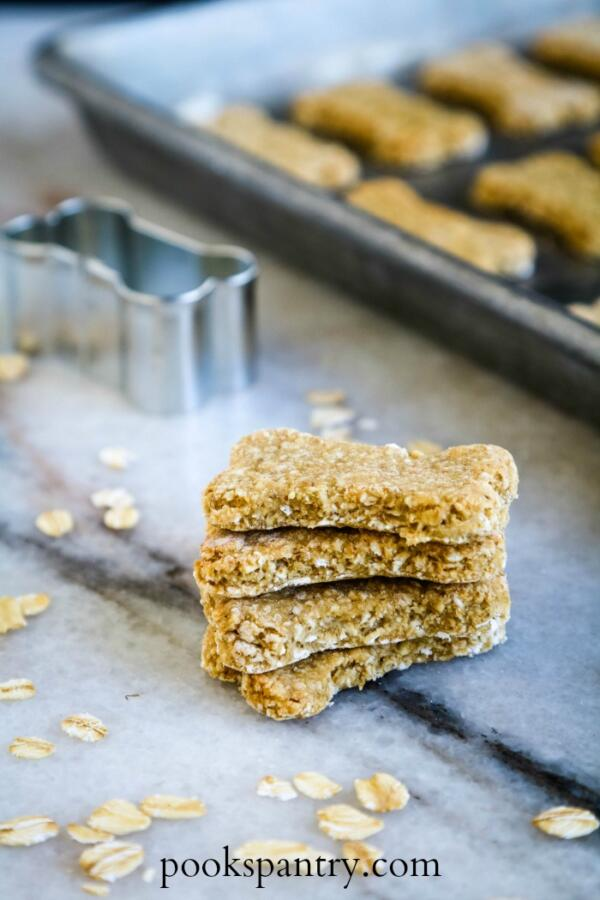 Homemade Dog Treats with Rolled Oats