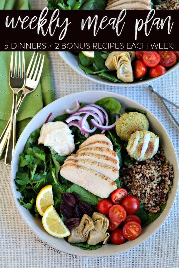 dinner divas meal plan salad in gray bowl