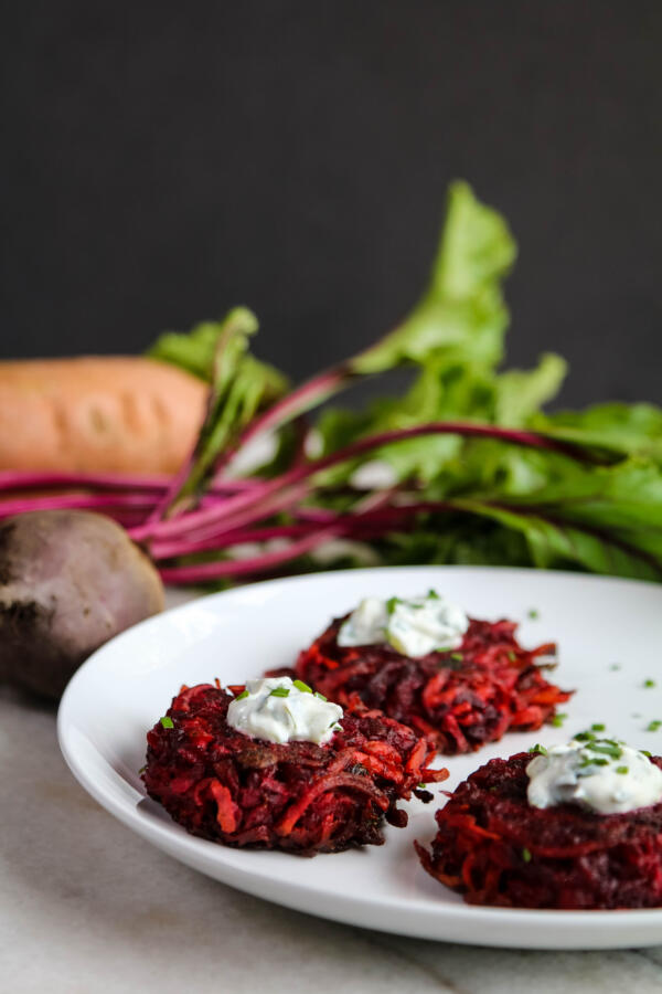 sweet potato and beet fritter recipe