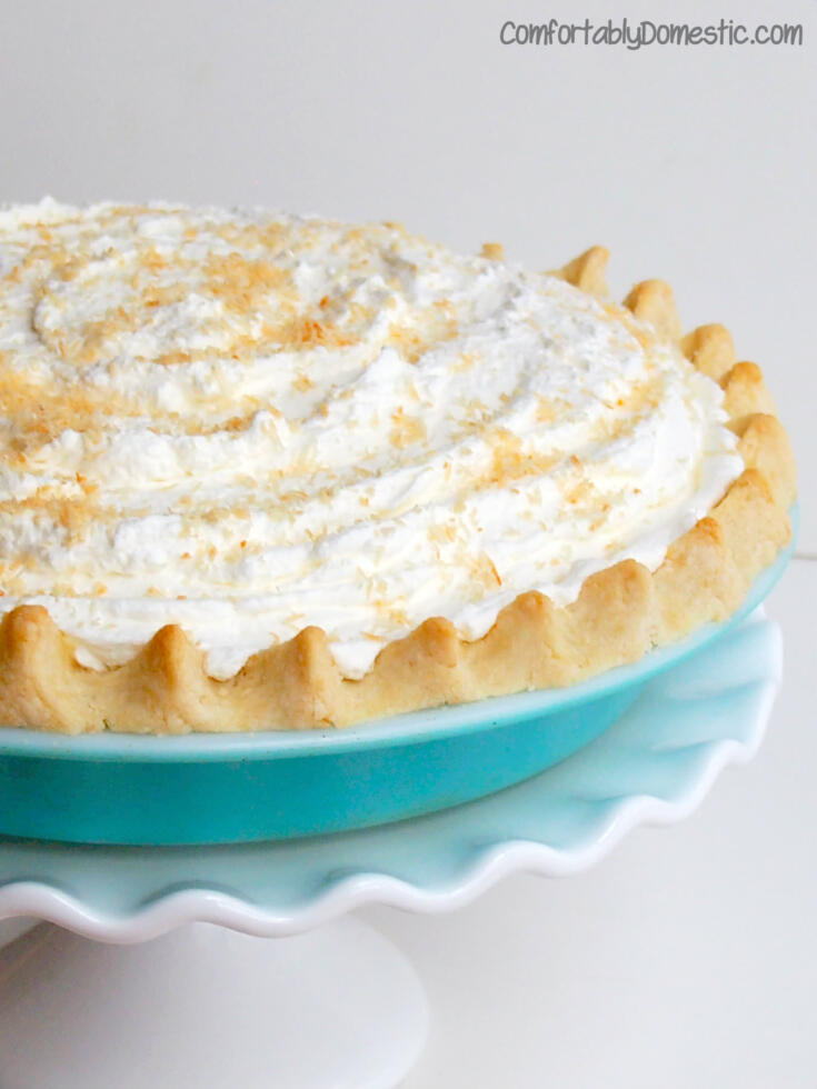Allergy Friendly Coconut Cream Pie {Gluten + Sugar Free}