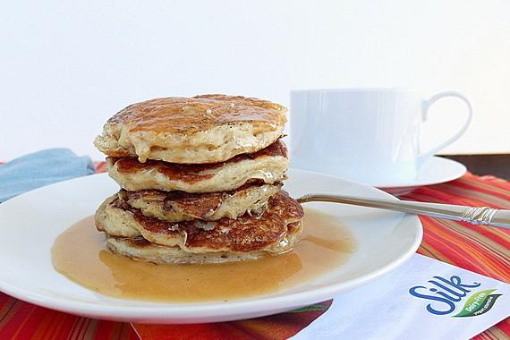 Vegan Vanilla Chai Pancakes | Silk Non-Dairy Yogurt Alternative