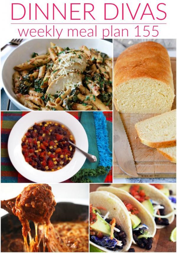 dinner divas meal plan 155 menu images collage