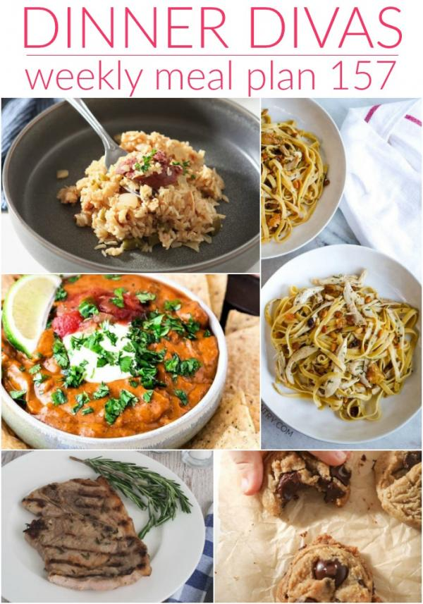 dinner divas weekly meal plan 157 collage