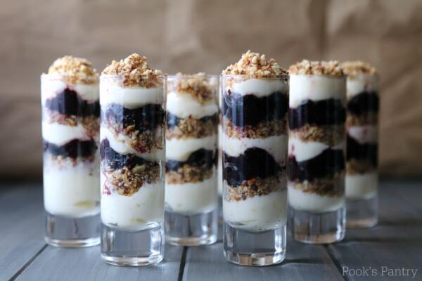 lemon blueberry cheesecake parfaits