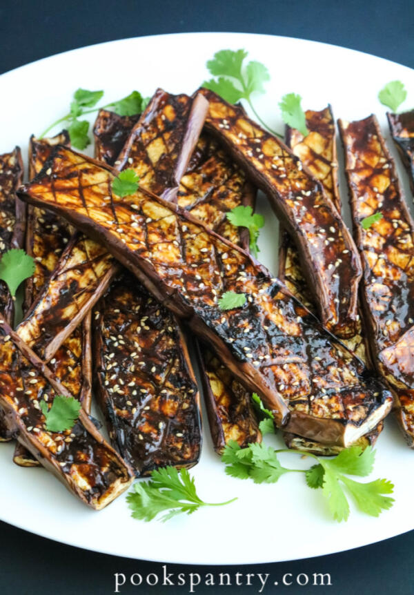 Japanese eggplant with miso paste