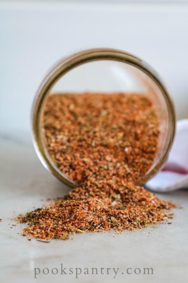 spice blend in glass jar