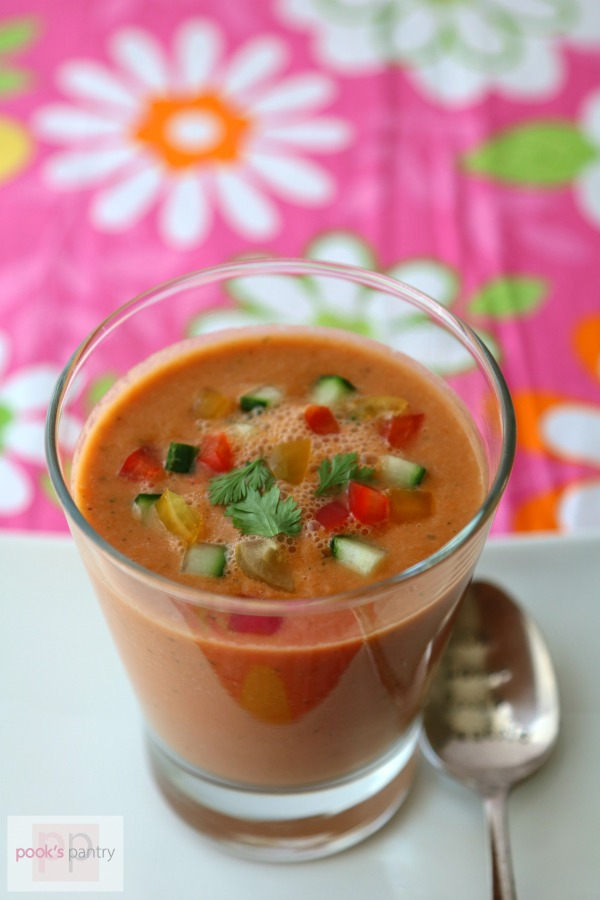 refreshing watermelon gazpacho is a delicious vegetarian soup recipe