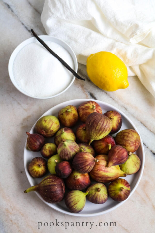 ingredients for fig jam