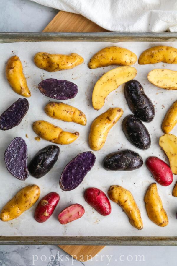How to roast purple fingerling potatoes in oven