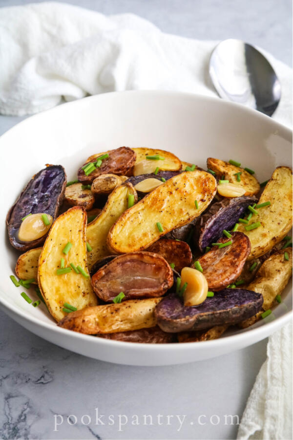 garlic and chive fingerling potatoes