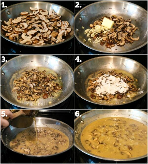 How to make vegetarian poutine gravy - step by step instructions