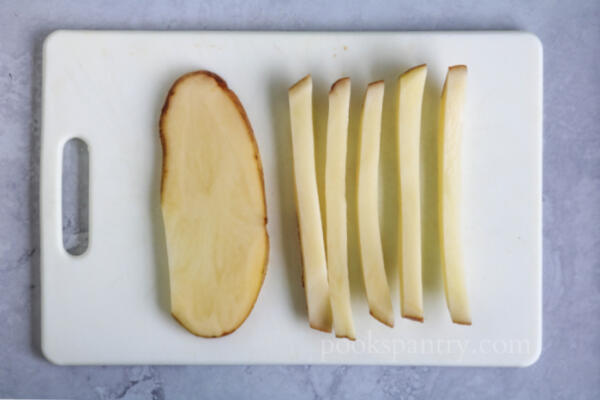 how to cut a potato to make french fries