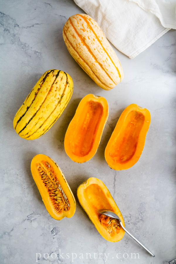 scooped out delicata squash