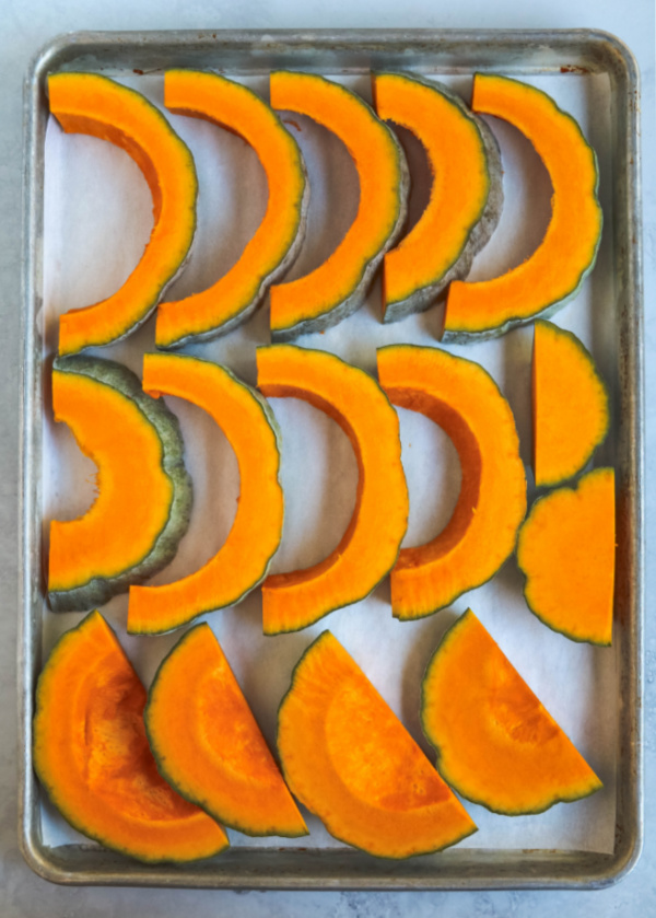 slices of squash on baking sheet