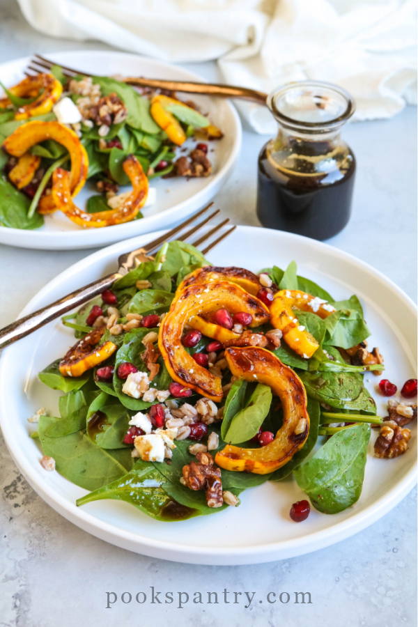 plates of delicata squash salad