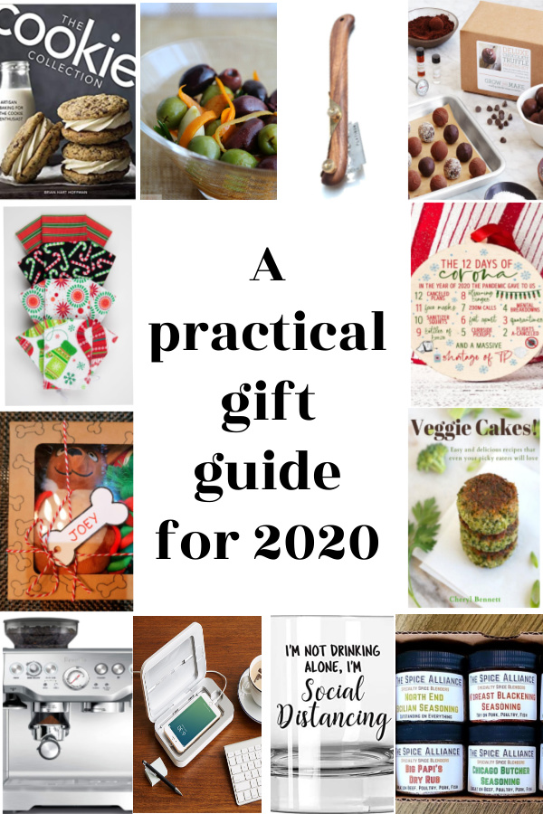 collage of presents for gift guide