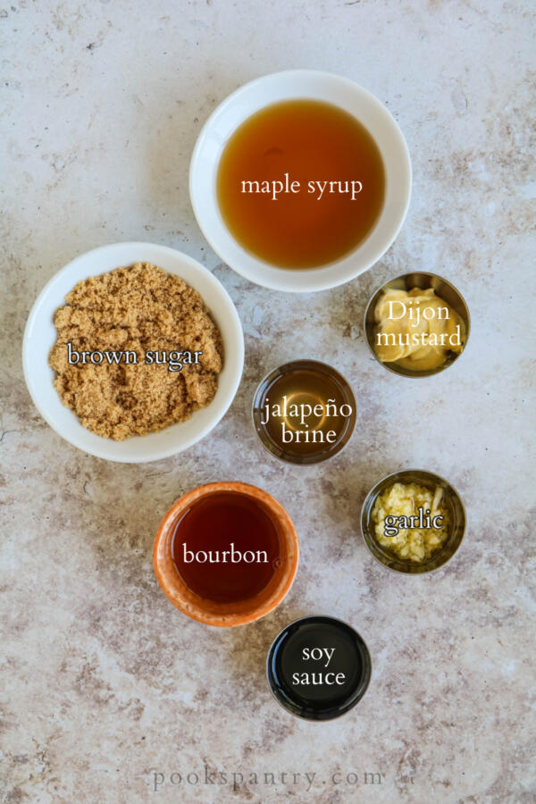 ingredients for bourbon jalapeno chicken marinade