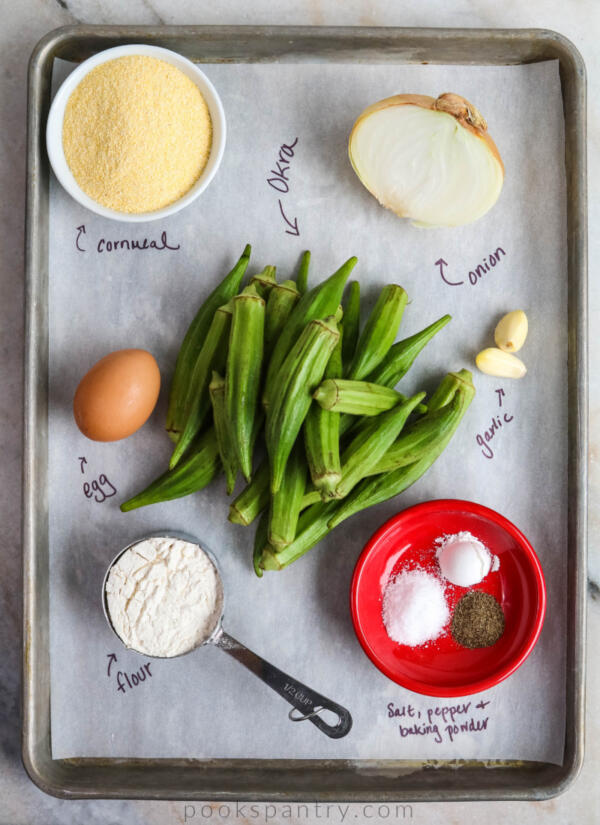 ingredients for okra cakes