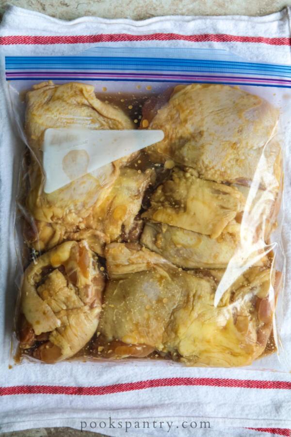 chicken thighs in zip-top bag