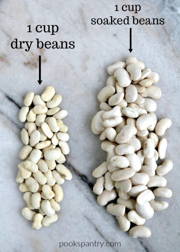 white beans dry vs soaked