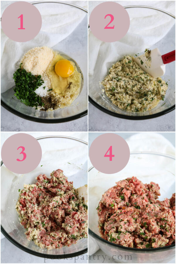 step by step photos for making meatballs
