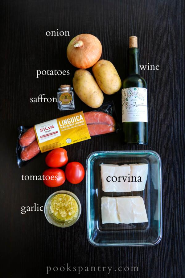 ingredients for pan roasted corvina