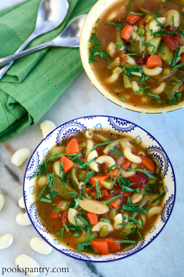 minestrone from scratch with herbs