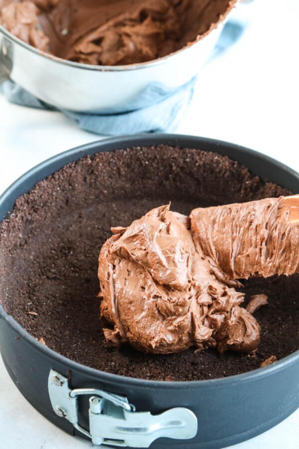 filling no bake chocolate cheesecake