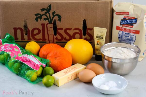 ingredients for citrus biscotti