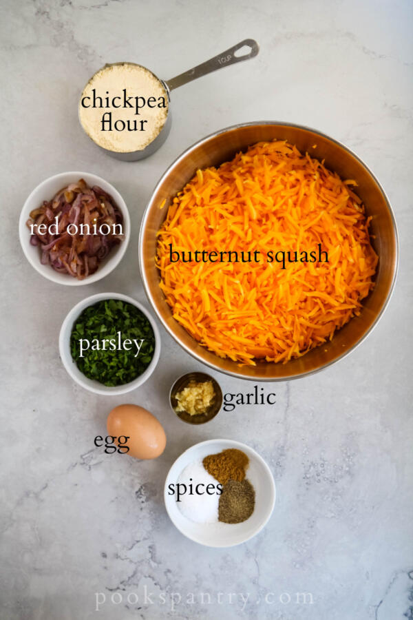 gredients for butternut squash fritters