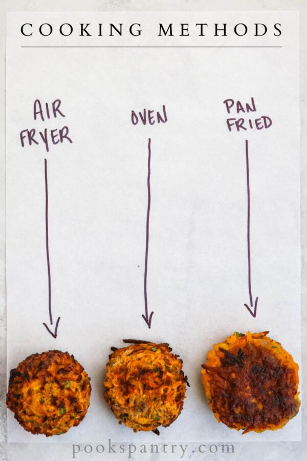 butternut squash fritter cooking methods comparison