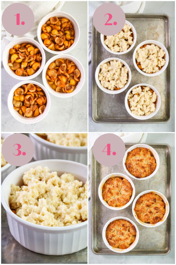 step by step directions how to make loquat cobbler