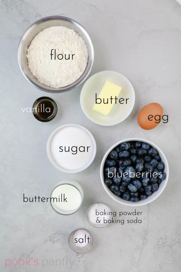 Ingredients for crumb cake.