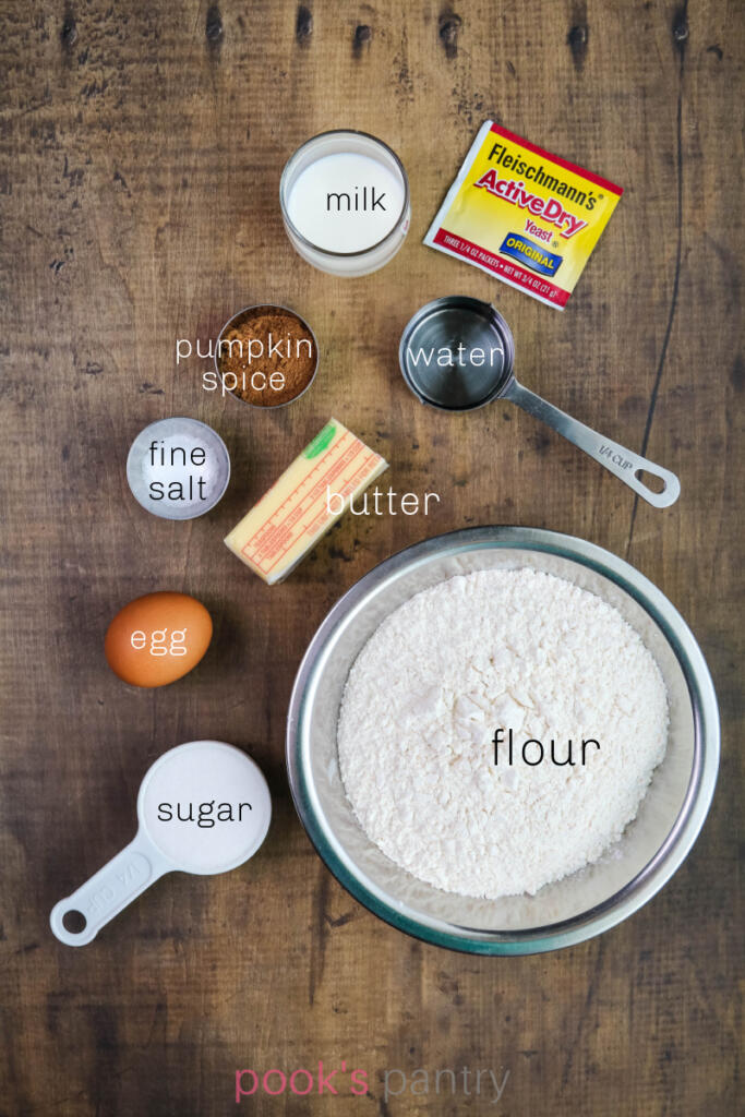 Ingredient shot for Mexican pumpkin empanada dough.
