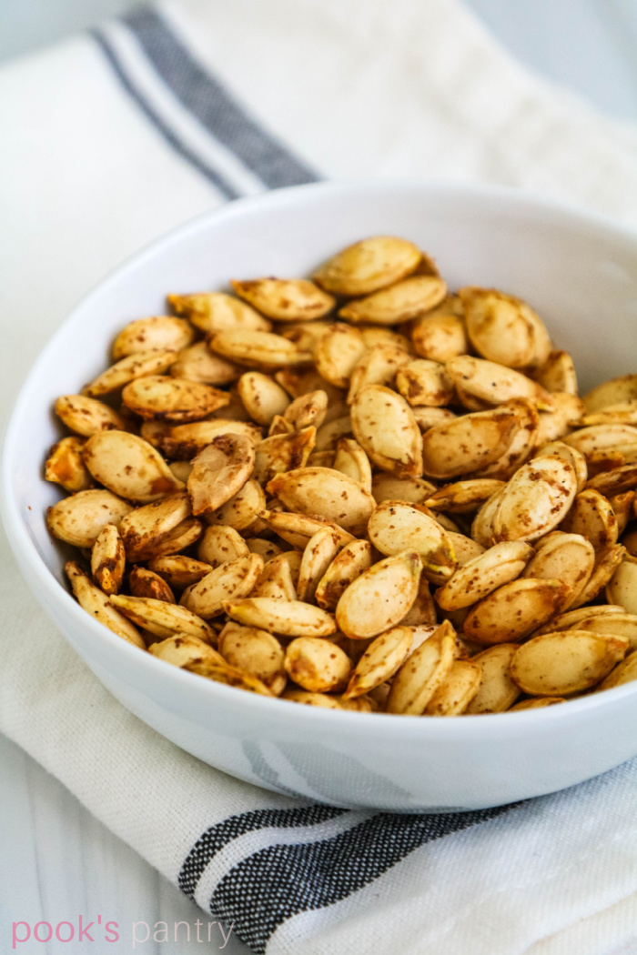 Roasted Hubbard squash seeds